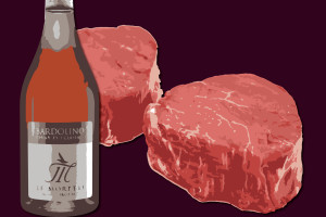 Chiaretto Le Morette in abbinamento a filet mignon